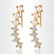 2019 Fashion Hot <b>Sale</b> Women Gold Color Simulated Pearl <b>Shining</b> ...