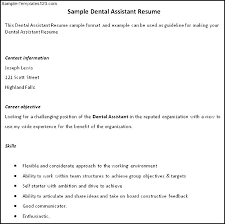 dental assistant resume sample   sample templatesdental assistant resume sample