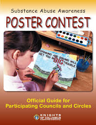 youth activities programs conducting a knights of columbus substance abuse awareness poster contest is an excellent way to get the young people of your community involved in