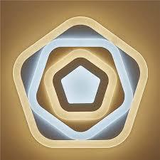 <b>LED</b> Ceiling Light Energy Saving Lighting Fixture 5 <b>Pentagon</b> Shape