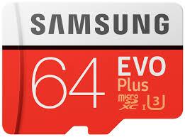 <b>Карта памяти</b> MicroSD <b>64GB</b> Samsung Class 10 Evo Plus U1 U3 ...
