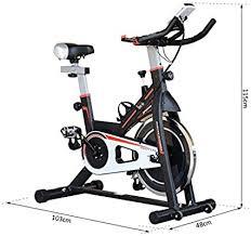 HOMCOM 8kg Flywheel <b>Exercise Bike</b> Racing Bicycle Home Fitness ...