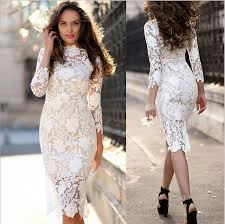 2019 <b>New Women'S Sexy Lace</b> Long Sleeved Pencil Skirt Hollow ...