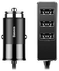 автомобильное <b>зарядное устройство Baseus Enjoy</b> Together Four ...