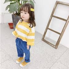 <b>Children's Clothing</b> Kids Cotton Border T-shirt <b>Unisex</b> 9/10Length ...