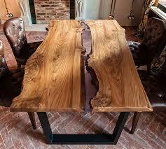 <b>Обеденный</b> Лофт <b>стол</b> Река из дерева и полимера