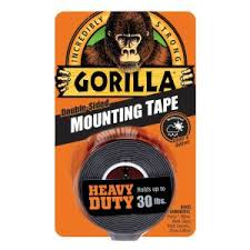 Gorilla 1 in. x 1.67 yd. Black <b>Heavy</b> Duty Mounting <b>Tape</b>-6055002 ...