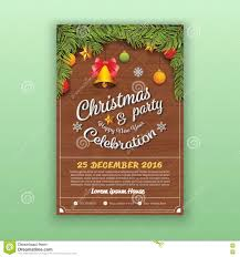 flyer template or brochure for happy new year party stock christmas happy new year party flyer template stock image
