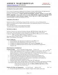 oracle sql developer resume sample job and resume template 1275 x 1650