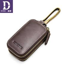 DIDE <b>Genuine Cow Leather Men</b> & Women Car Key Bag Wallet ...