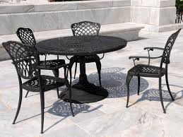 black wrought iron patio furniture with 4 personpatio chairs and travertine tiles design black wrought iron table