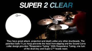 Super 2 Clear <b>Drumheads</b> - YouTube