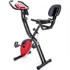 Merax <b>X-Bike Magnetic</b> Folding <b>Fitness</b> Bike 2.5 kg Flywheel LCD ...