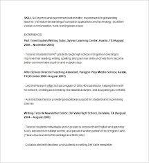 tutor resume template –    free samples  examples  format      time tutor resume sample