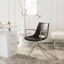 Safavieh Dawn <b>Grey</b>/Copper Leather <b>Swivel Dining Chair</b>-ACH7002A