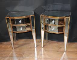 chests cabinets mirrored pair deco mirror nightstands bedside tables art deco mirrored furniture