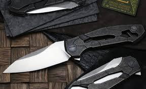 <b>Складной нож CKF</b> T14W, сталь M390, рукоять Titanium | www ...