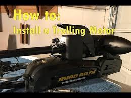 How to install Minn Kota Power Drive Trolling Motor - YouTube