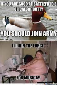 RMX] Malicious advice mallard: Army by zackq - Meme Center via Relatably.com