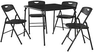 Cosco 5-Piece Folding Table and Chair Set, Black ... - Amazon.com