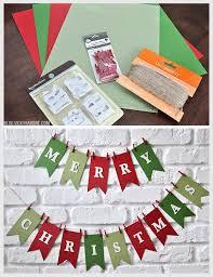 DIY <b>Merry Christmas Garland</b> - Vicky Barone | Christmas banner diy ...
