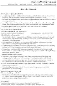 resume  executive assistantsample combination resume executive assistant