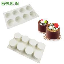 <b>3D</b> Handmade Cupcake Cookie Moulds 8 Holes <b>Round</b> Shape ...