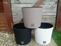 HQ <b>Flower</b> Pot Plant <b>Rattan Style</b> Planter 4 sizes 4 colours <b>Plants</b> ...