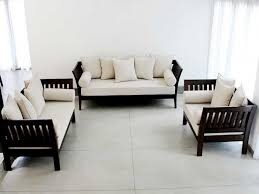 amazing white wood furniture sets modern design: latest wooden sofa designs with price