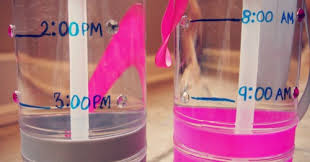 Image result for marked water bottle with times to drink