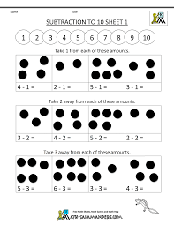 Addition and Subtraction Worksheets for Kindergartenaddition and subtraction worksheets subtraction to 10 1