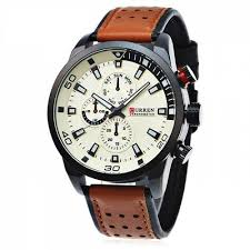 <b>CURREN Casual</b> Men Quartz Watch Tiger Orange Quartz Watches ...