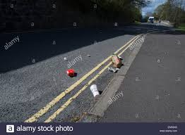 road side drinks stock photos road side drinks stock images alamy mcdonald s fast food packaging dropped out of a car and left strewn by the side of