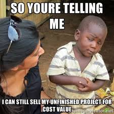 so youre telling me I can still sell my unfinished project for ... via Relatably.com