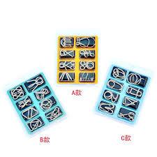 8pcs/Set <b>Metal</b> Wire Puzzle IQ Mind Brain Game Montessori Early ...