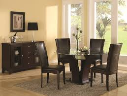 contemporary dining room furniture clear glass