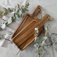 <b>Rectangular</b> 10x5inch <b>Wooden</b> Tray <b>Nordic</b> Style Accacia <b>Wood</b> ...