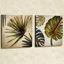 tree scene metal wall art:  wall art ideas design industrial crafted tropical metal two separated canvas stick hangs nailed frameless useful