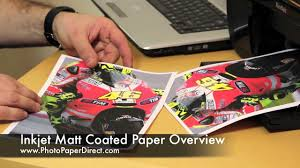 <b>Inkjet</b> Matt <b>Coated</b> Paper Overview By Photo Paper Direct - YouTube