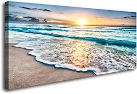 Baisuart S02250 Canvas <b>Prints</b> Wall Art <b>Beach</b> Sunset <b>Ocean</b>