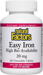 Natural Factors, Easy Iron Chewable, Gentle ... - Amazon.com
