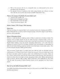 Dissertation report on customer satisfaction towards rupay card
