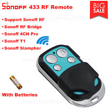 Itead <b>Sonoff</b> RF 433 <b>Wireless 4</b> Button Remote Control <b>For Sonoff</b> ...