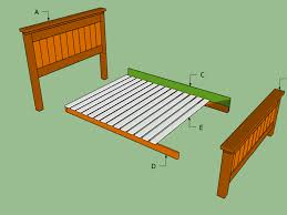 Queen Headboard Dimensions Bed Frame Ana White Simple Bed Full Size Diy Projects Standard