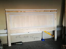 Diy Wood Headboard Bedroom Fancy Wooden Headboard Headboards Bookcase Storage Beds