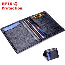 Genuine Leather <b>Passport</b> Wallet <b>RFID Protection</b> Credit Card ...