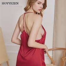 <b>Hoyyezen sexy pajamas women</b> simulation silk strap shorts ...