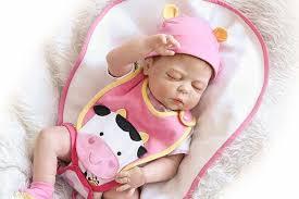 NPK bebes reborn doll <b>19inch</b> 46cm <b>full silicone</b> reborn baby dolls ...