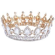 SODIAL Vintage Baroque <b>Queen</b> Bride <b>Crown Rhinestone</b> for ...