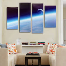 four cascade home space <b>canvas painting decorative</b> wall picture ...